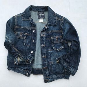 OshKosh Bgosh dark blue demin Jean Jacket size 5